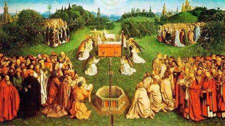 Utsnitt av Ghent-altertavlen